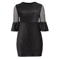 Women Vintage Dresses 2018 Spring Autumn Carnival Plus Size O Neck Black Elegant Sheath O Neck