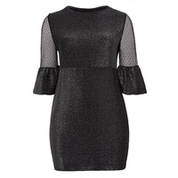 Women Vintage Dresses 2018 Spring Autumn Carnival Plus Size O Neck Black Elegant Sheath O Neck