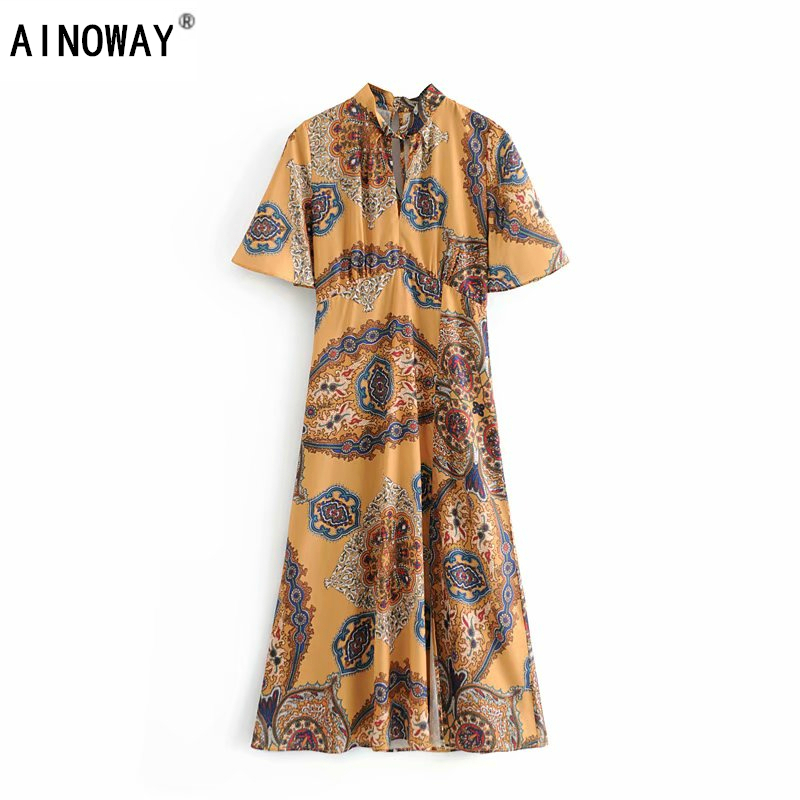 Vintage Chic Women Floral Print Beach Long Bohemian Dresses Maxi Dress Ladies V Neck Tassel Summer Boho Dress Cool In Summer And Warm In Winter Women's Clothing