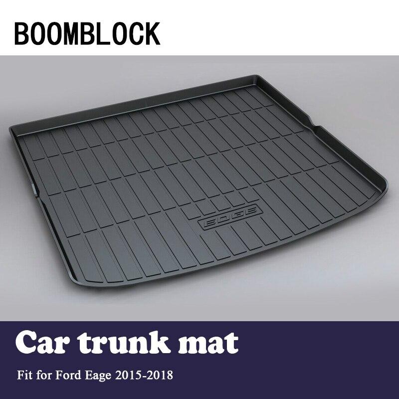 BOOMBLOCK Car Special Trunk Floor Foot Mat Pad Non slip Dustproof Interior Accessories For Ford Edge 2018 2017 2015