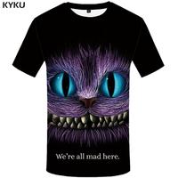 New Brand Cheshire Cat T shirt Anime   Top     Tees   3d Shirts T shirts Funny Shirts Women Print Short sleeves summer 2017