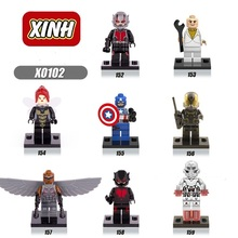 8pcs/Set Figures Building Blocks Sets china brand  The Avengers Ant people compitble with Lego