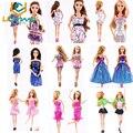 UCanaan 20 Предметов Одежды и Обуви для Барби Куклы 10 Одежда Экипировка 10 Обувь Типа Смешивания Цвета смешивания Fit Барби DIY мебель