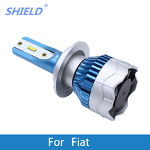 2Ps Car LED Headlight Kit H4 H7 led 9006 9005 H1 H3 H11 12000LM 80W CSP Chips For Fiat Punto/Bravo/Panda/500/Palio/Stilo/Linea