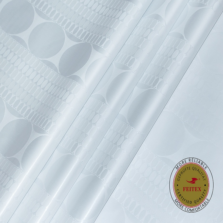 New Arrival African Fabric Bazin Riche Getzner Quality Austria Cotton Material Jacquard Brocade Feitex Textile Fabrics