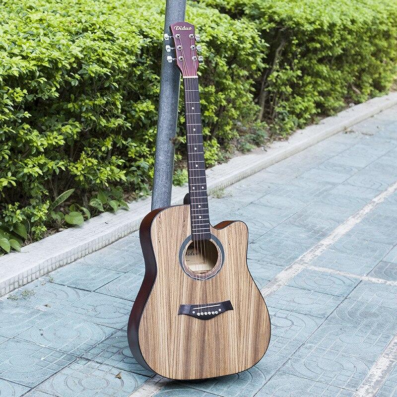 Guitar Acoustic 6 String  Steel-String Balladry Folk Pop Flattop Zebrawood 41 Inch Basswood Matte Guitarra Cutaway Beginner hercules gs301b travelite acoustic guitar portable travel mini steel stand