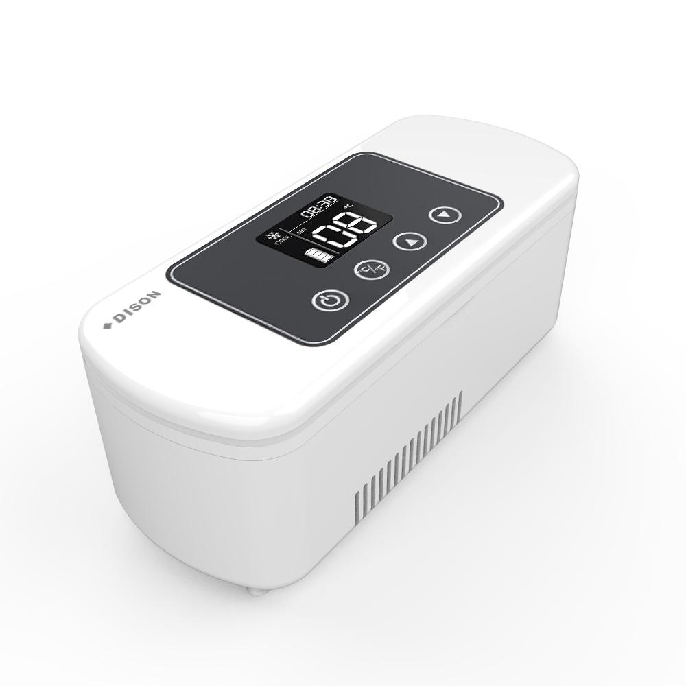 Dison Travel Portable Mini Fridge Medicine Freezer Diabetes Travel Insulin Cooler Mini Case Fridge Insulin Refrigerator
