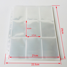 10Pages-100Pages Choice, 9-Pocket Clear Series Card Page Protector for Standard Size Cards previously page 9