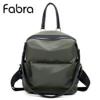 Fabra Waterproof Nylon Women Backpack Bags Ladies Fashion Casual Luxury Simple Shoulder Bag Small Black Daypack
