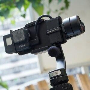 Image 5 - 울란 지 PT 6 Gopro Vlog 플레이트 마이크 어댑터 3 축 짐벌 Moza 미니 S 부드러운 4 Vimble 2 Vlogging 금속 케이스 Gopro 7 6
