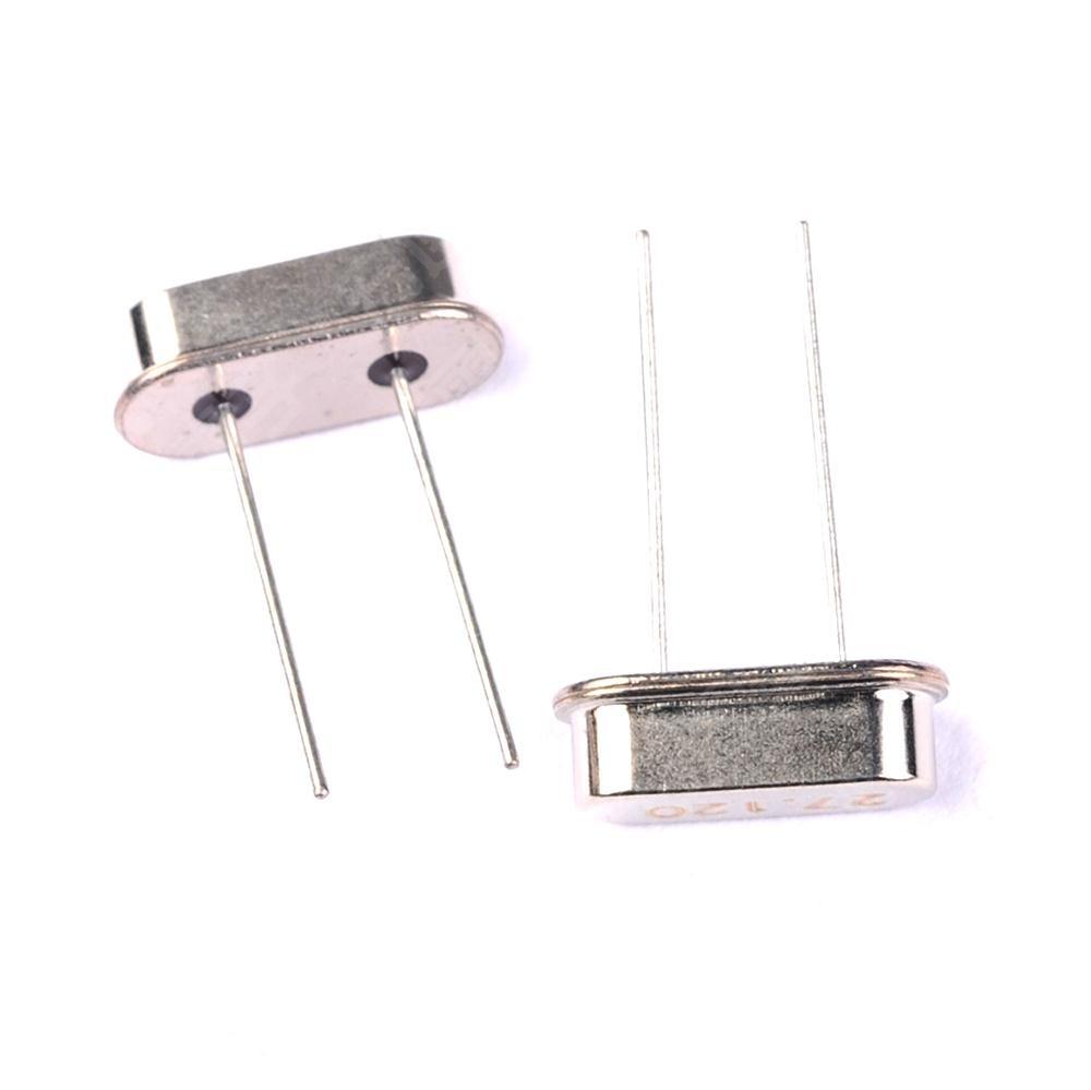 no logo 50pcs Crystal Oscillators HC-49S Assortment Kit Quart 4 MHz 6MHz 8MHz 12MHz 16MHz 20MHz 24MHz 25MHz 26MHz 27MHz 10Value x 5PCS