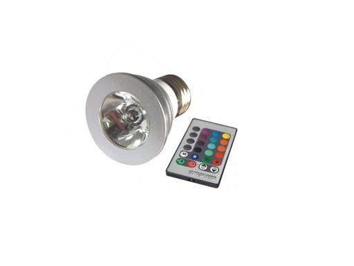 1*3W E27 RGB led spot light with remote controller;P/N:SZSXDT-SP-3W-E27