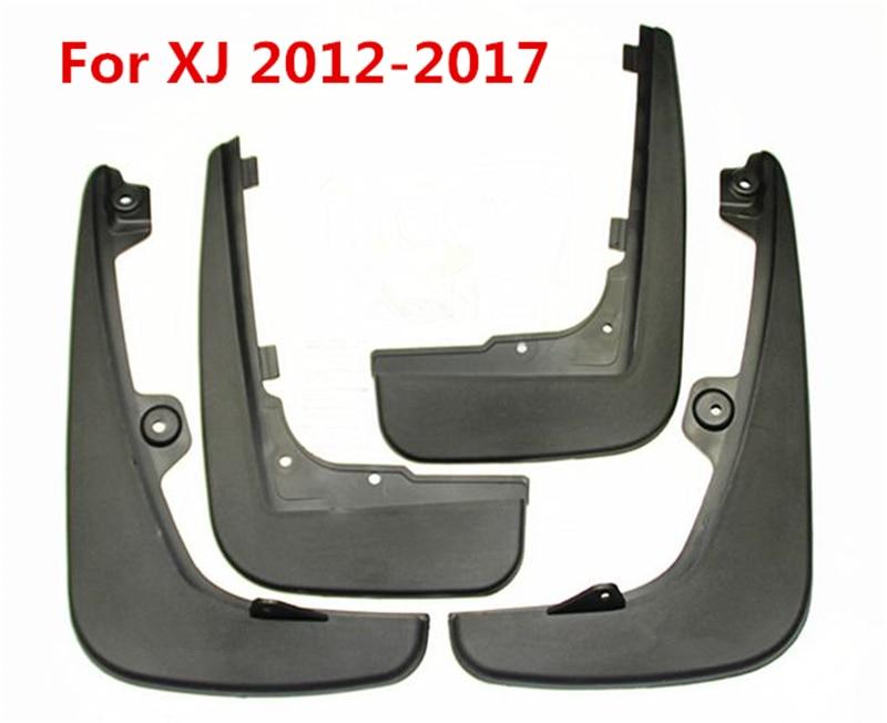 4Pcs For Jaguar XJ 2012 2017 Black Front Rear Molded Car ...