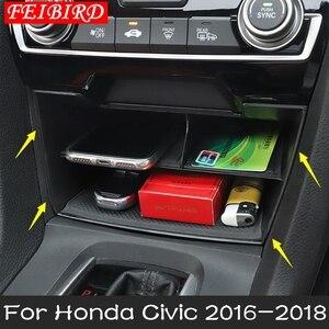 Image 2 - Iç aksesuarları Honda Civic Sedan 2016 2017 2018 2019 merkezi depolama paleti konteyner çok ızgara kutusu kapak kiti