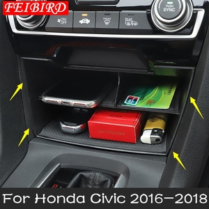 Image 2 - Interior Accessories For Honda Civic Sedan 2016 2017 2018 2019 Central Storage Pallet Container Multi grid Box Cover Kit
