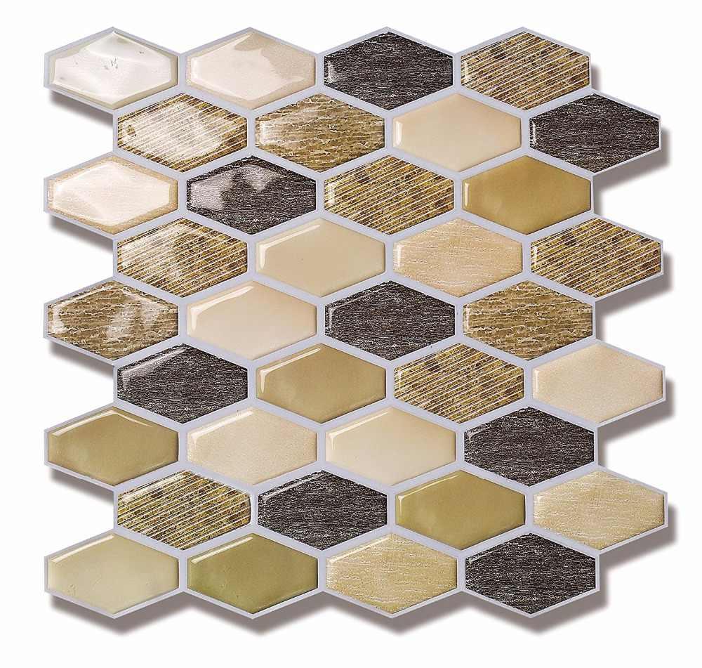 - Vinyl Tile For Kitchen Backsplash, Self Adhesive Wall Tile(Beige