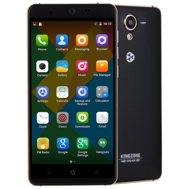 4G 100% Original KINGZONE N5 5.0'' Android 5.1 Smartphone MT6735 Quad Core 1.0GHz ROM 16GB+RAM 2GB GSM & WCDMA & FDD-LTE 2600mAh
