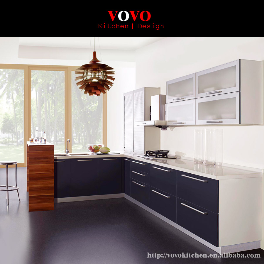 American Style Lacquer Kitchen Cabinet Design