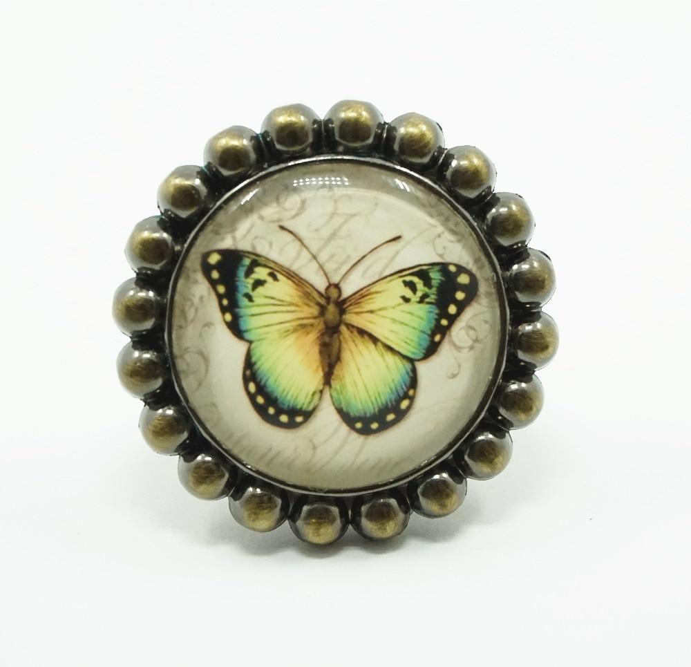 Kitchen Cabinet Pulls Glass Dresser Knobs Or Antique: Vintage Look Butterfly Knob Glass Drawer Knobs Dresser