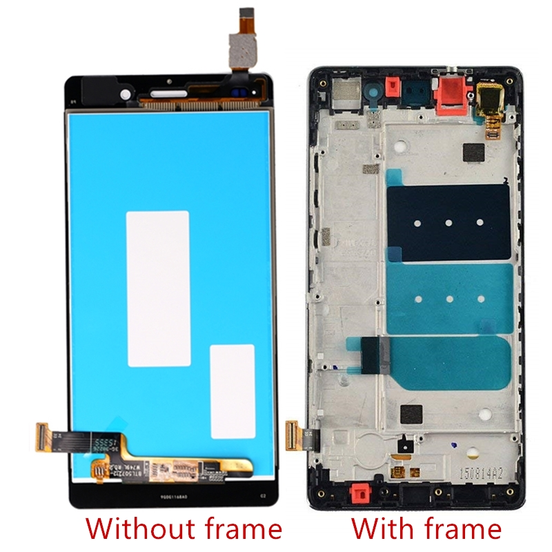 For Huawei Ascend P8 Lite ALE-L04 L21 TL00 L23 CL00 L02 UL00 LCD Display Touch Screen Digitizer Assembly Replacement With Frame
