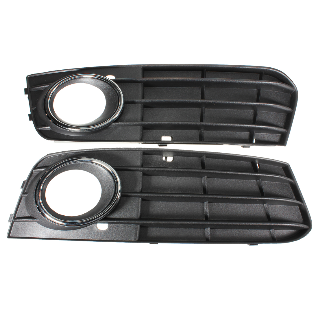 2Pcs Car Front Bumper Fog Light Grille Grill Cover for <font><b>Audi</b></font> <font><b>A4</b></font> B8 A4L 2009 2010 2011 <font><b>2012</b></font> 8KD 807 681 01C /8KD 807 682 01C image