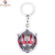 Movie Avengers 4 Final Battle Ant-Man Mask Keychain Mens Party Gift Car Decoration Pendant