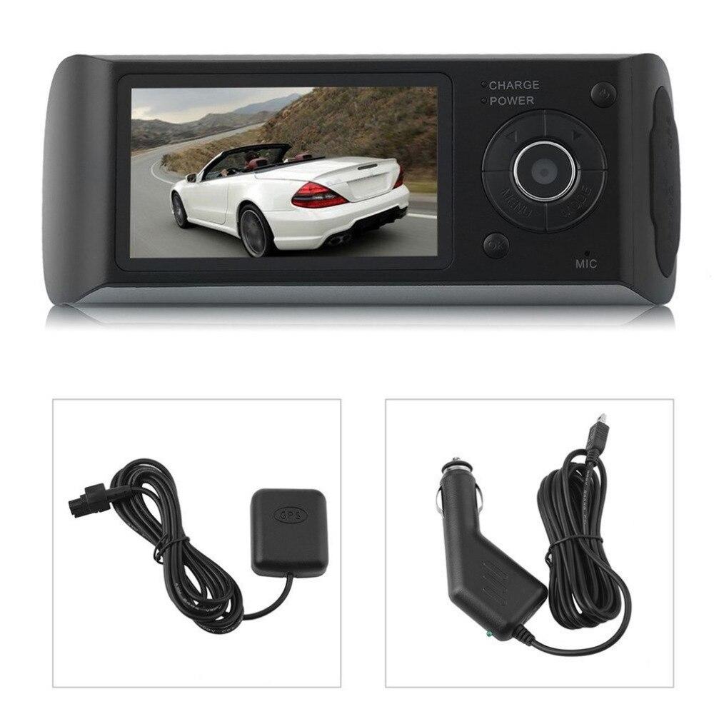 2.7 Inch Dual Lens Car LCD DVR Video Recorder G-Sensor GPS Locator HD Camera 140 Degree View Angle Dash Cam Camcorder