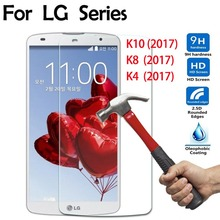 2.5D Curved Edge zero.3mm 9H Tempered Glass Display screen Protector movie For LG Ok10 K4 K8 2017 Ok430 M250 cellphone Protecting cowl Movie case