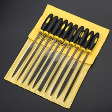 10 Pcs Needle File Set For Jeweler Wood Carving Craft Metal Glass Stone 3 Sizes LS'D Tool(China)