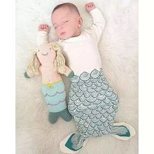 Ins Mermaid Tail Sleepsack Black Bear Baby Sleeping Bag Couchage Shark Sleeping Blanket Summer Swaddle Envelopes For Newborns