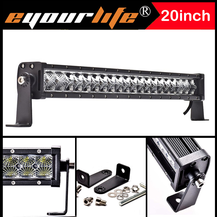 Eyourlife 20 Led Light Bar Barra Led Bar Slim 105w Offroad 22Inch IP68 Led Work Light