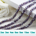 5040 AAA Top Tanzanite AB Color Loose Crystal Glass Rondelle beads.2mm 3mm 4mm,6mm,8mm 10mm,12mm Free Shipping!