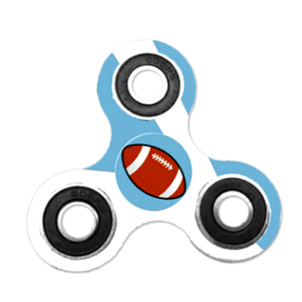Rugby Fidget Spinner Triangle Single Finger Decompression Gyro For Autism ADHD Finger Cube Stress Relief Toys