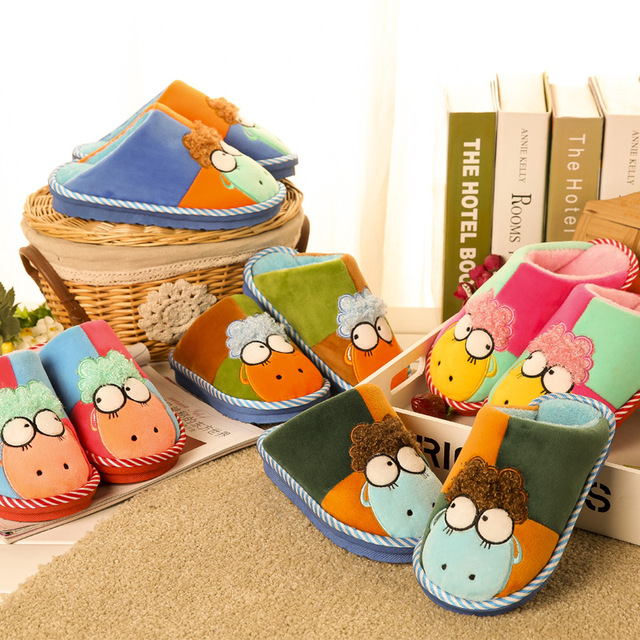 Баранчик конфеты каваи цвет плюшевые домашние тапочки зима тапочки тепловые тапочки розничная дети тапочки