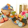 Poco ovejas Kawaii dulces Color Plush inicio zapatillas de invierno zapatillas zapatillas térmicas Retail niños zapatillas