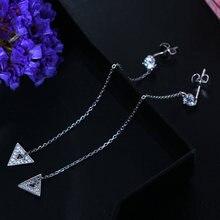 Женские серьги из серебра 925 пробы с кристаллами