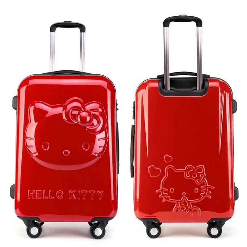 Flickor Hello Kitty Trolleyväska 3D Cartoon Trolley Bagageväska - Väskor för bagage och resor - Foto 3