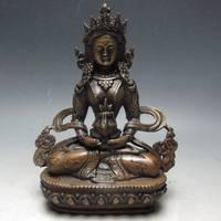 Chinese Bronze White Tara Buddha Statue