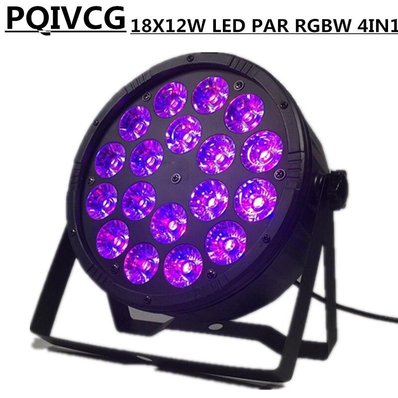 18x12w Led Pa Rgbw 4in1 Par Lights/ Disco Lights Dmx512 Control Wash Light Stage Professional Dj Equipment 100% New Latest Fashion