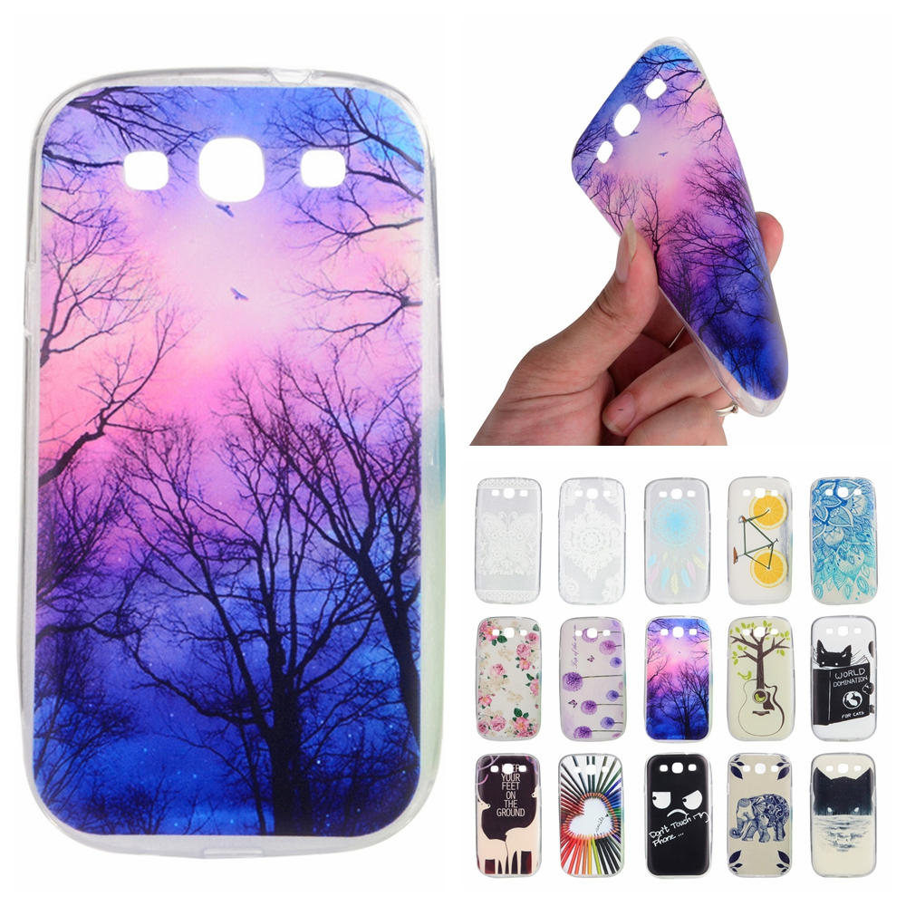For Coque Samsung S3 Case Silicone Cute Transparent Cover for Samsung Galaxy S 3 i9300 Neo Duos i9300i Slim TPU Soft Phone Cases