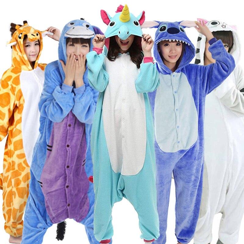 Greywalnut Girls Unicorn Pegasus Giraffe   Pajamas     Sets   Flannel Animal Cartoon Nightie Stitch Pyjamas For Women Adult Halloween