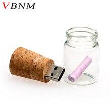 VBNM Wishing bottle Pendrive USB Flash Drive 4GB 8GB 16GB 32GB Memory Stick