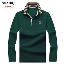 SHABIQI Classic Brand Men shirt Men Polo Shirt Men Long Sleeve Polos Shirt T Designer Polo Shirt Plus Size 6XL 7XL 8XL 9XL 10XL jiade men s long sleeve tech t shirt polo original fit worker t shirt