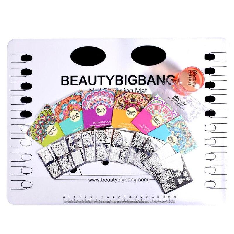 beautybigbang 10 stcke nagel stanzen platten set neue 2018 sommer halloween muster nagel design nail art stempel fr ngel vorlage set - Muster Fur Nagel