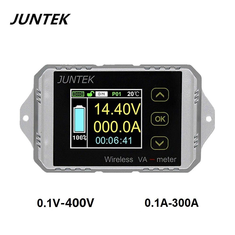 JUNTEK VAT4300 400V 300A Wireless voltage and current meter Car battery monitoring 12V 24V 48V battery