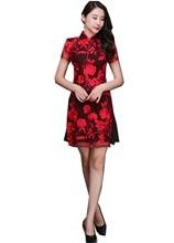 Shanghai Story National Trend Dress 2 Layer Lace Chinese Oriental dress Chiffon Audai Style Dress Qipao Dress