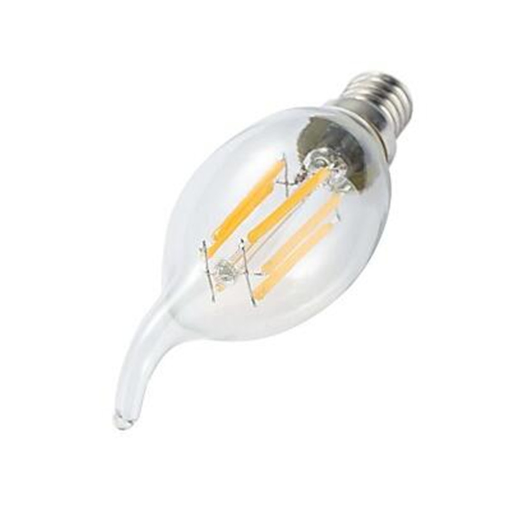 10pcs LED Filament Bulb E14 4W/6W AC220V Glass Shell 360 Degree C35 Edison Retro Candle Light Warm/Cold White  Free Shipping