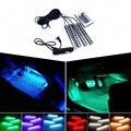 Estilo do carro decorativa LED RGB controlador de Luz Ambiente Para renault megane 2 3 duster logan sandero clio 2 laguna 2 cênica