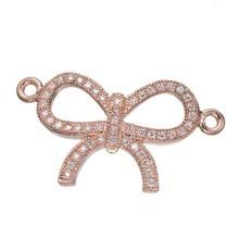 10 pçs/lote 2017 Varia de Cores Bronze Bowtie Bonito Encantos Pingentes Jóias DIY Apreciação Acessórios Para Mulheres Colar Pulseir