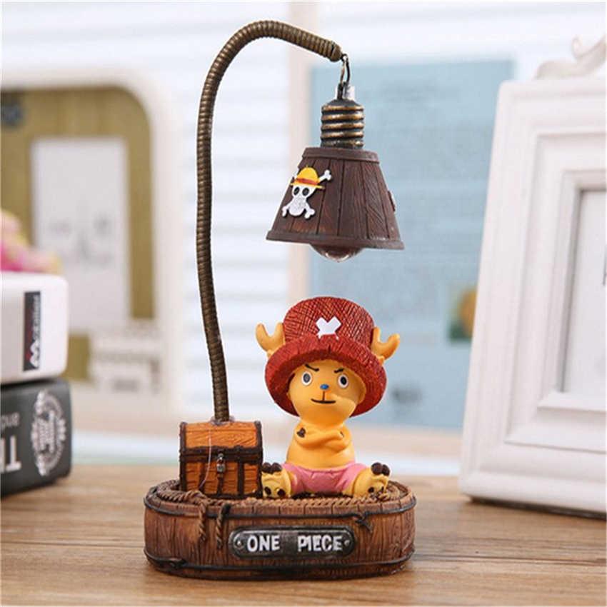"""Креативные ночные светильники японского аниме """"one piece"""" Обезьяна-D-Luffys/Tony Chopper Garage наборы лампы номер поделки с резиновым орнаментом"""